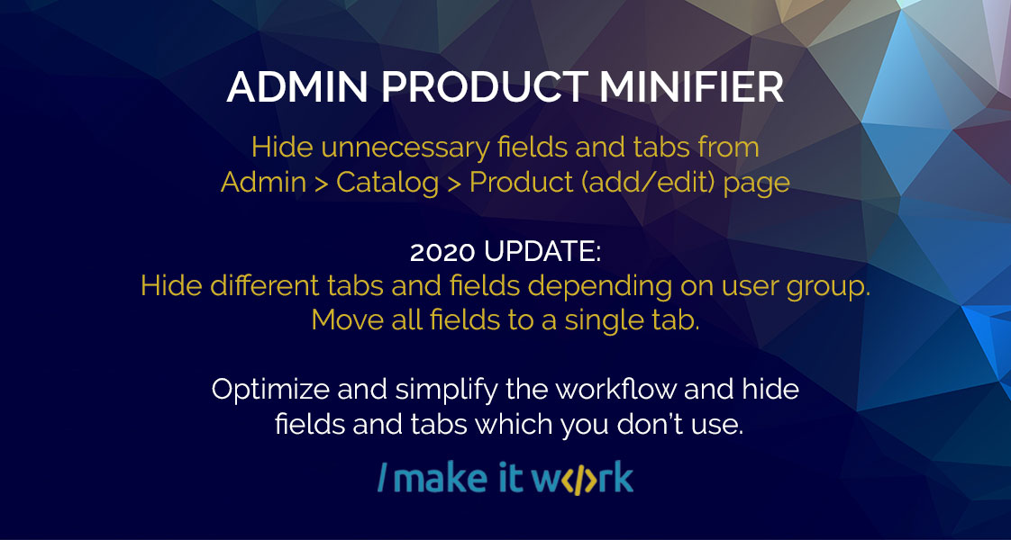 Admin Product Minifier